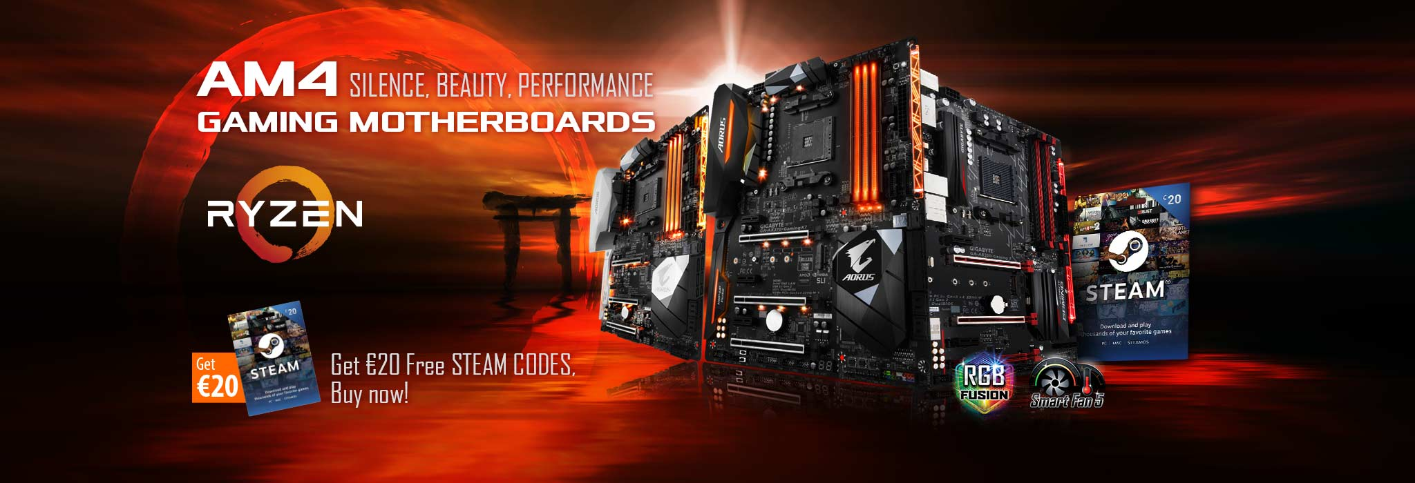 AORUS Gaming Motherboards Come with Fun- up to €60 Free Steam Codes