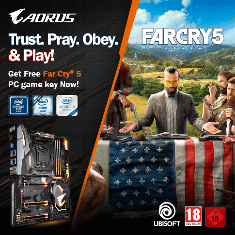 Buy selected AORUS Gaming motherboards and get Far Cry 5 PC game key for FREE*_INTEL ONLY