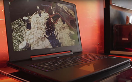 The beasty GTX 1080 laptop with maximum performance.
