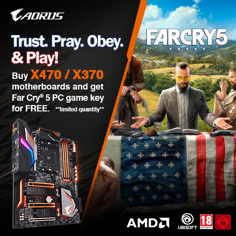 Buy selected X470/X370  gaming motherboards and get Far Cry 5 PC game key for FREE*_AMD ONLY