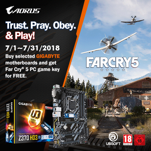 Buy selected GIGABYTE Z370 motherboards and get Far Cry 5 PC game key for FREE*_Indonesia