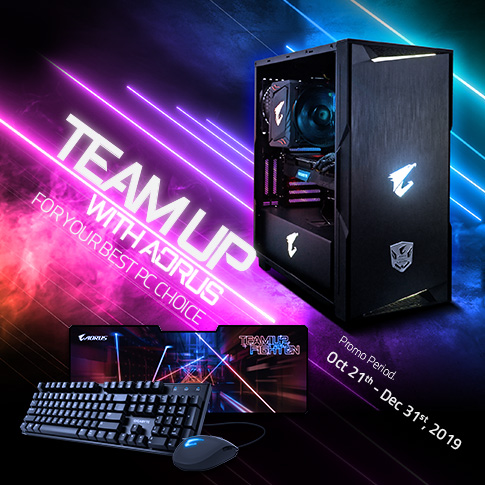 Team Up With AORUS For Your Best PC Choice!
